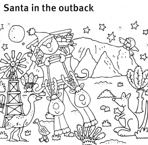 Santa in the outback