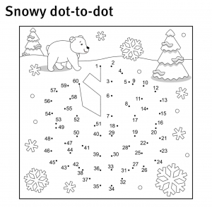 Snowy dot-to-dot
