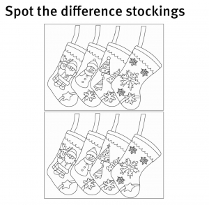 Spot the difference stockings