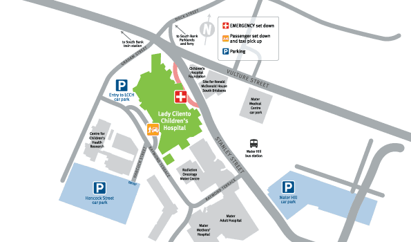 Lady Cilento Children's Hospital precinct map