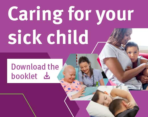 Caring for your sick child booklet banner